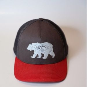 North Face Red/Gray Trucker Hat SnapBack